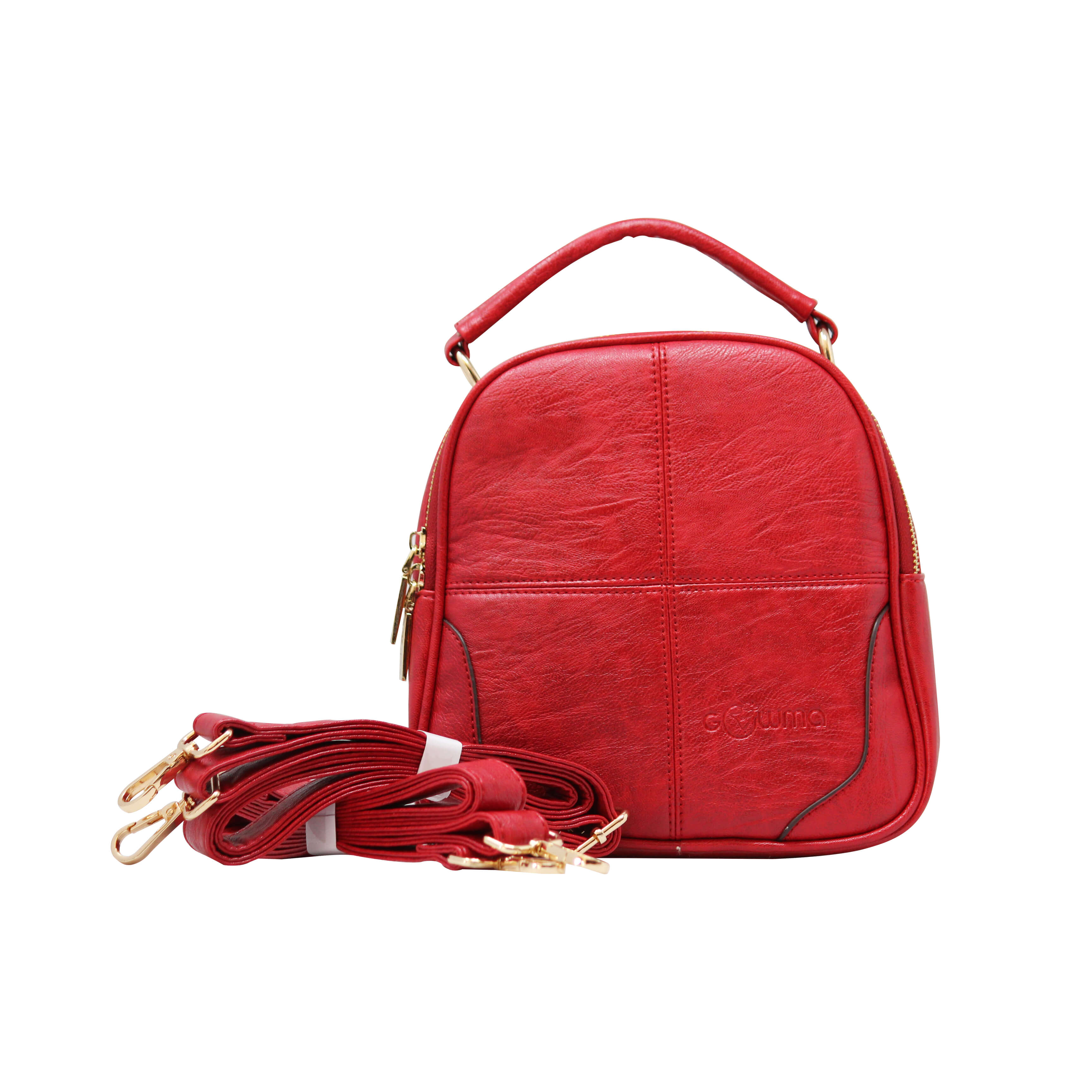 CROSS BODY CUM BACKPACK (RS)-RED 6