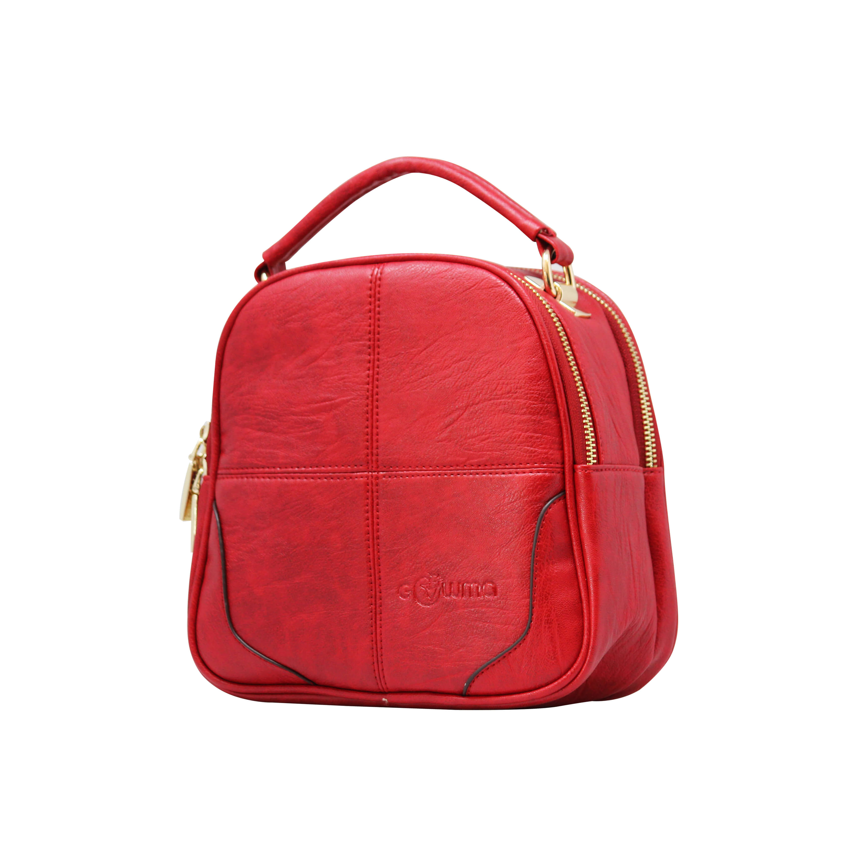 CROSS BODY CUM BACKPACK (RS)-RED 5