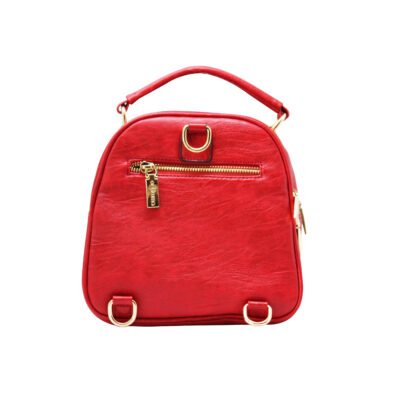 CROSS BODY CUM BACKPACK (RS)-RED 3