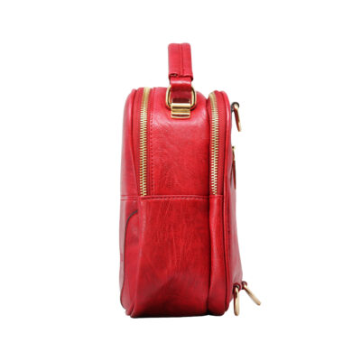 CROSS BODY CUM BACKPACK (RS)-RED 4