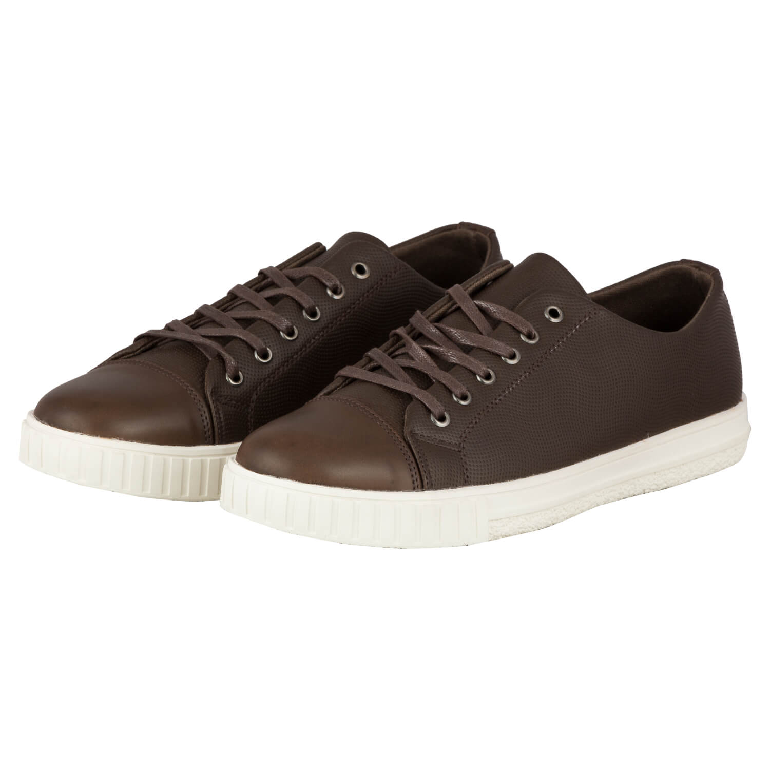 CASUAL LACE UP- BROWN 8