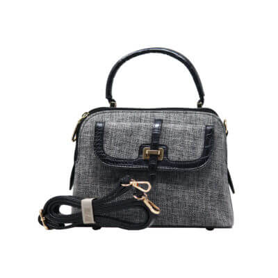 CROSS BODY HAND BAG (DF)- BLACK 2